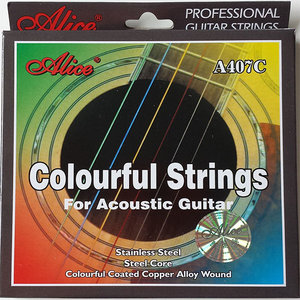 Alice A407C Colourful Strings for acoustic guitar